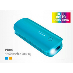 Power Bank PB04 4400 mAh z Latarką