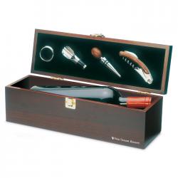 Zestaw do wina w drewnianym pudełku - KC2690