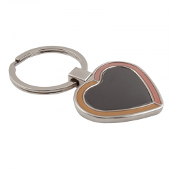 Metalowy brelok w kształcie serca - R73196