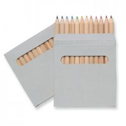 12 kredek w naturalnym kartonowym pudełku - it1047-01
