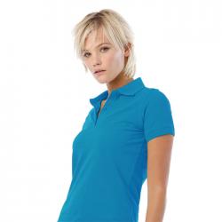 Damska koszulka polo - BC0526-WH