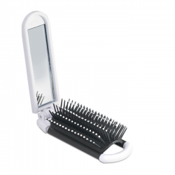 Składana szczotka do włosów z lusterkiem -  kc5720-06