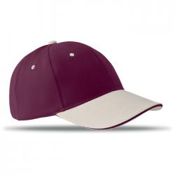 6-panelowa czapka bejsbolówka ze szczotkowanej bawełny - MO8654