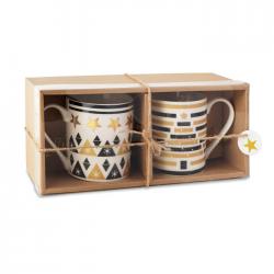 Zestaw 2 ceramicznych kubków - cx1442