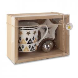 Świąteczny zestaw zawierający ceramiczny kubek - CX1443-99