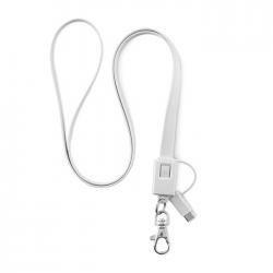 Kabel - smycz z TPE, micro USB i typ C, do smartfonów i tabletów - MO9276