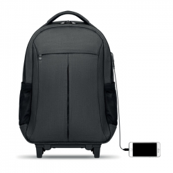 Plecak z kółkami, z poliestru 360D - MO9179