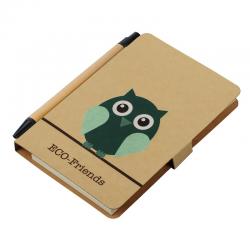 """Notes """"Eco friends"""" w formacie A6 z długopisem - R73809"""