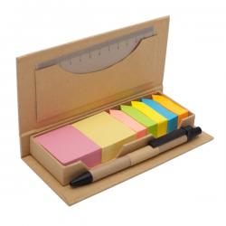 Zestaw eco, linijka, karteczki, długopis - R73668.13
