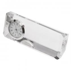 Kryształowy przycisk do papieru z zegarem - R22186