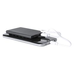 Plastikowy powerbank w kształcie karty kredytowej o poj. 2000mAh z przyssawkami - AP781310