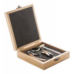 Zestaw do wina w bambusowym pudełku - AP804906