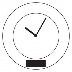 Aluminiowy zegar - 56-0401220
