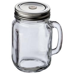 Szklany słoik do picia - 80442