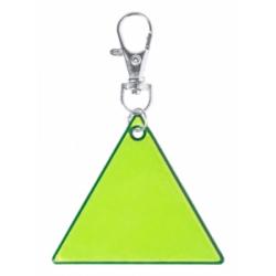 Odblaskowy brelok z PVC w kształcie trójkąta - AP781770