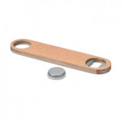 Otwieracz do butelek ze stali nierdzewnej i drewna - MO9360