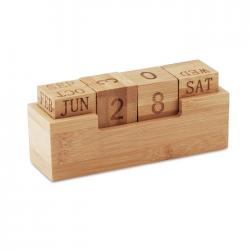 Bambusowy kalendarz biurkowy - MO9404