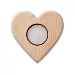 Drewniany świecznik serce - MO9377