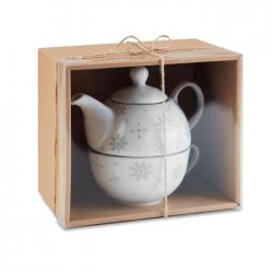 Zestaw do herbaty czajniczek i filiżanka - CX1451