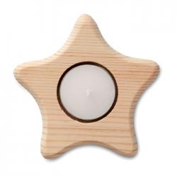 Drewniany świecznik gwiazda - CX1445