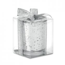 Szklany świecznik świąteczny - MO9378