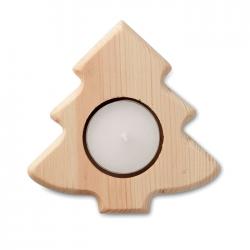 Drewniany świecznik choinka - CX144