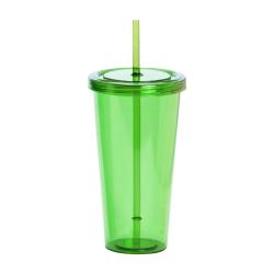 Plastikowy kubek ze słomką - AP741814