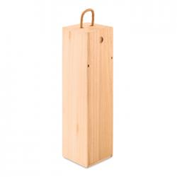 Skrzynka na wino z drewna paulowni - MO9413