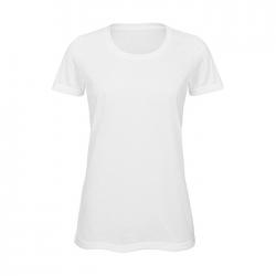 Koszulka damska 140 g/m², 100% poliester - BC0014-WH