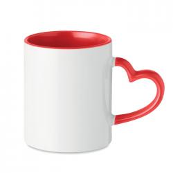 Kubek ceramiczny o pojemności 300 ml z uchwytem w kształcie serca - MO9455-05