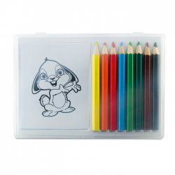 Zestaw do kolorowania w przezroczystym pudełku - mo7389-99
