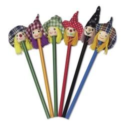 Drewniany ołówek czarownica - V6109-00