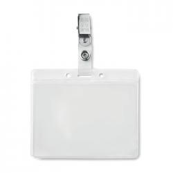 Uchwyt na identyfikator z PVC z metalowym klipem - MO9642