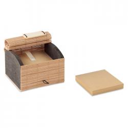 Bambusowa podkładka na biurko zawierająca 500 kartek z papieru z recyklingu - MO9571-40