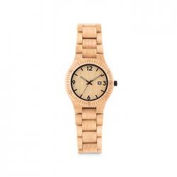 Modny zegarek kwarcowy, wykonany z naturalnego drewna - MO9582