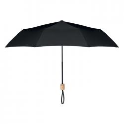 Składany parasol 21 cali, 3 sekcje z tkaniną pongee 190T RPET - MO9604
