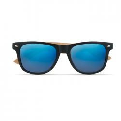 Okulary przeciwsłoneczne w stylu vintage z bambusowymi zausznikami - MO9617