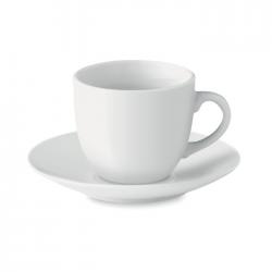 Porcelanowa filiżanka do espresso ze spodkiem. Pojemność: 80 ml - MO9634-06
