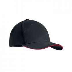 6-panelowa czapeczka bejsbolowa z bawełny czesanej z regulowanym zapięciem - MO9644