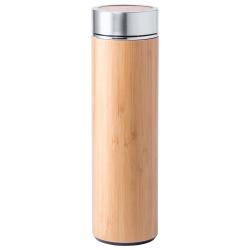 Butelka sportowa ze stali i bambusa, 500ml - AP721173