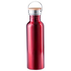 Butelka sportowa z kolorowej stali nierdzewnej z bambusową zakrywką, 800 ml. - AP721169