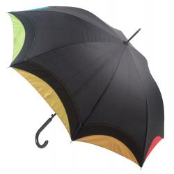 Automatyczny, 8-panelowy parasol z kolorową lamówką - AP808411