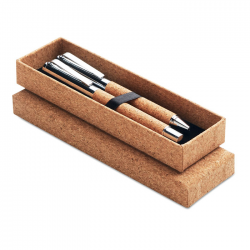 Metalowy zestaw do pisania w obudowie z korka - MO9678-40