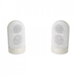 Zestaw 2 magnetycznych głośników Bluetooth 5.0 ze słomy pszennej 30% i materiału ABS 70% - MO9757