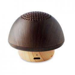 Głośnik Bluetooth 5.0 w kształcie grzyba z ABS oraz imitacji drewna - MO9718