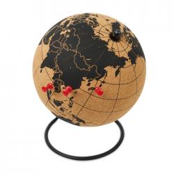 Globus korkowy ze stojakiem z 12 pinezkami - MO9722