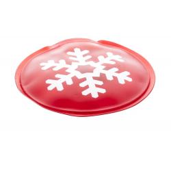 Okrągły ogrzewacz wielokrotnego użytku z motywem śnieżynki - AP741105