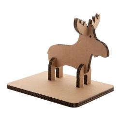 Kartonowa karta świąteczna z figurką renifera do złożenia - AP718786