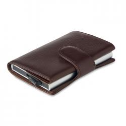 Etui na karty / portfel z funkcją RFID, wykonane z PU - MO9726