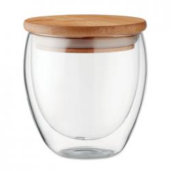 Szklanka z dwuwarstwowego szkła borokrzemianowego 250 ml - MO9719